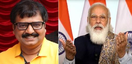 pm modi mourning to actor vivek death