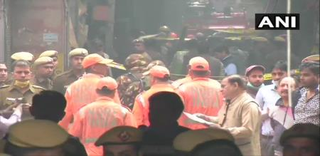 in Delhi building fire accident peoples died