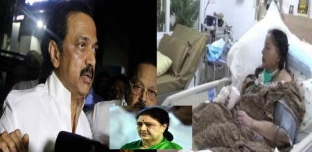 jeyalalitha death case sasikala want to inquiry to mk stalin
