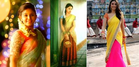 girls like south indian culture dress pavadai davani dress