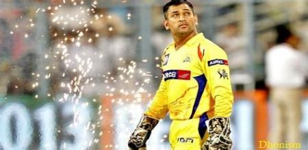 in social media trending about dhoni