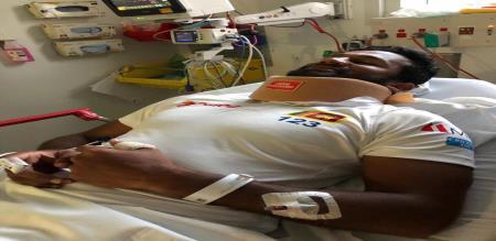 kusal perera injured richardson Bouncer