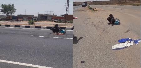 in Delhi migrate worker ate died dog in road