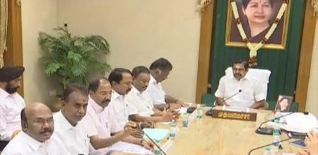 tn cm and minister meeting for corona