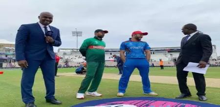 afganistan won the toss choose to field first