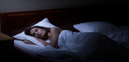 sleepless night for women
