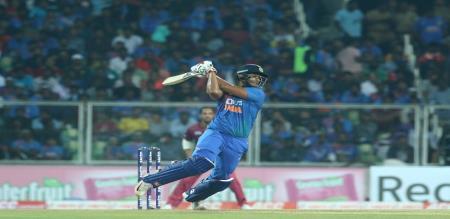 shivam dube scored his maiden half century in T20I
