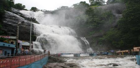 heavy rain in kutralam