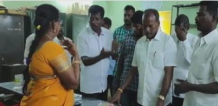 election candidate not caste his vote