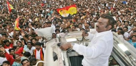 vijayakanth election campaign in today
