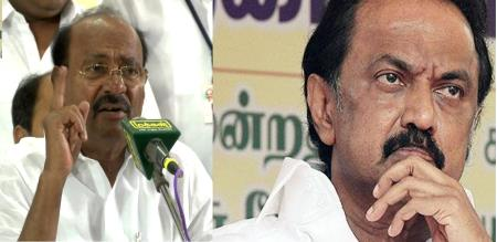 gk mani raise question to stalin about murasoli office issue