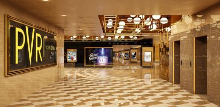 in chennai international airport pvr construct cinema screen