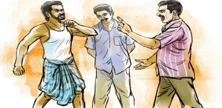 in madurai love torture couple attacked by mom and son