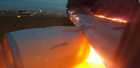 fire acident in russia flight