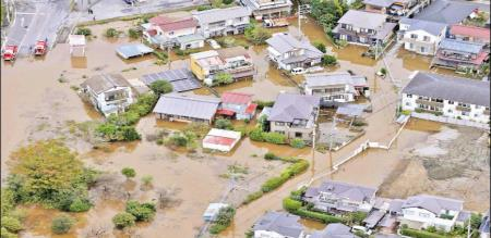 In japan peoples died due to heavy rain