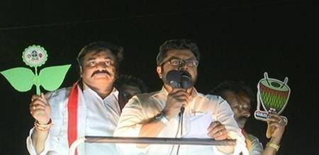 sarathkumar campaign in vadachennai