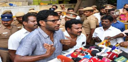 tamilnadu government take action on actor vishal