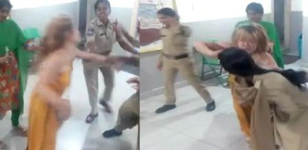 in telangana girl attack police drinks after cure morning
