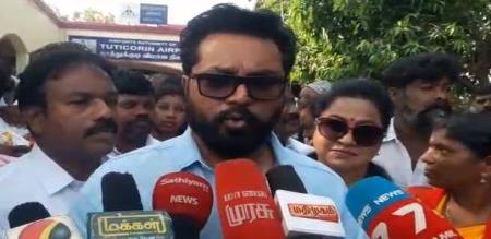 Sarathkumar press meet in lok sabha election