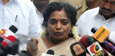 tamilisai press meet in chennai airport