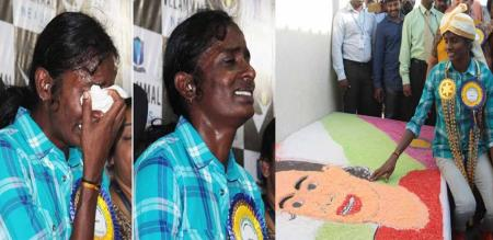 gold medalist gomathi crying in private school function