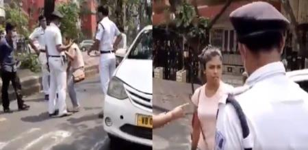 west bengal police who warned woman