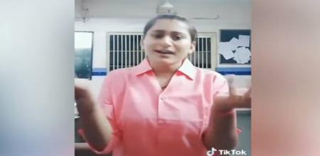 in Gujarat lady cop tic tok video and now suspended