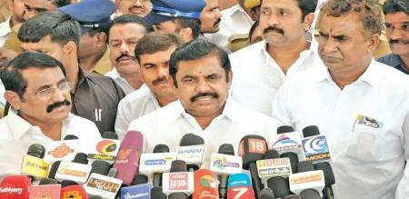 edappadi palanisamy press meet about 144