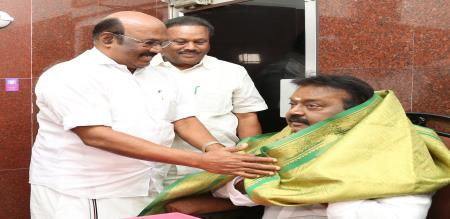 TN ministers meet with DMDK vijayakanth