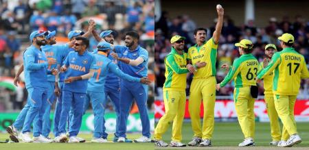 india vs aus match cricket aus takes bating shortly