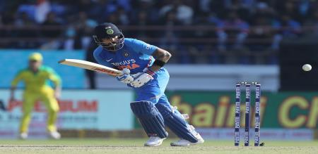 ind aus match india diclar 341 runs for aus