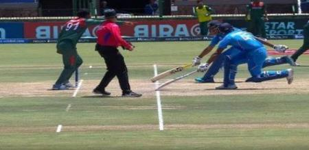 indian batsman run out video viral