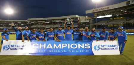 INDIA WON THE MATCH AND SERIES AGAINST WEST INDIES