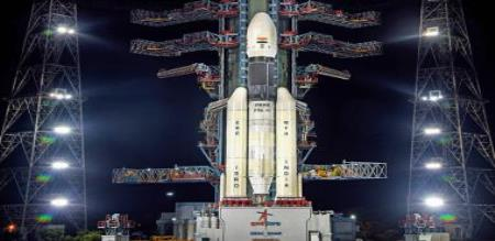 The Chandrayaan-2 spacecraft will fly in the afternoon.