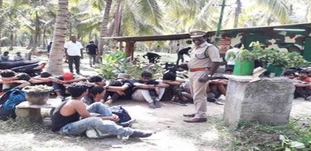 kerala 150 students arrested