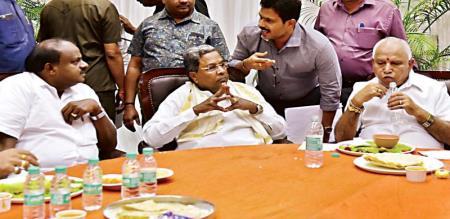 Karnataka By election leading results
