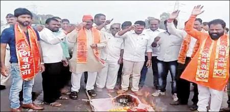 in karnadaga maharastra border problem peoples panic