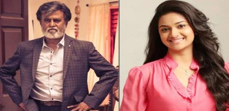 keerthi suresh acting with rajinikanth