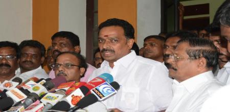 minister vijai baskar press meet in admk