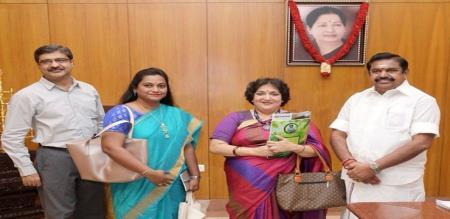 ladha rajinikanth meet with cm