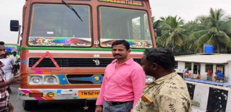 railway staff saves lorry driver from running lorry