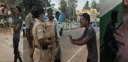 144 curfew youngster argument with police later gives treatment