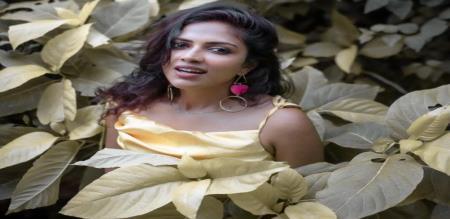 Amala paul Sandal Color Dress Photo viral