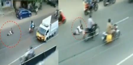 In Madurai Drunken Monkey Atrocity in road