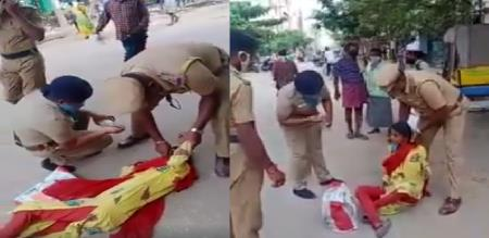 in Madurai girl unconscious police give food 144 curfew