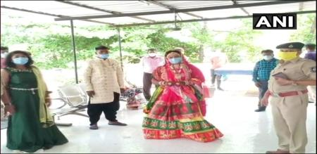 Gujarat couple and relative try to marriage violent curfew police arrest