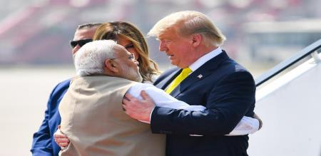 US president trump praise to India