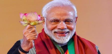 modi tweet about success in election