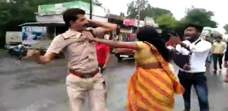 in madya predesh govt staff attacked by woman due to sexual torture