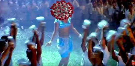 Viral corona song in social media
